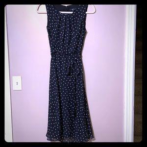 R&K Black Polka Dot Dress, size 4